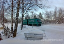 Scandinavian vehicle during winter