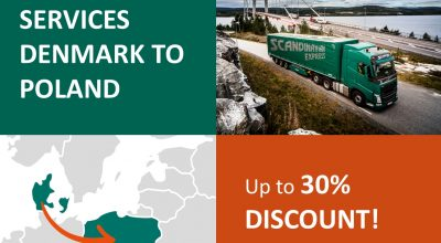 New offer for transports Denmark > Poland